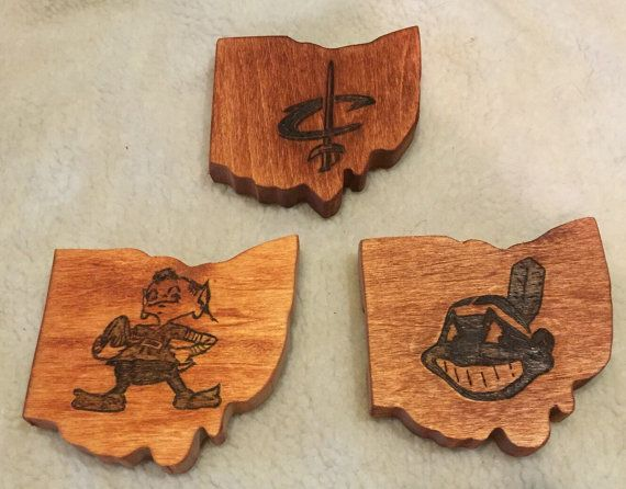 Cleveland Cavs Indians Browns Coasters On Pinterest