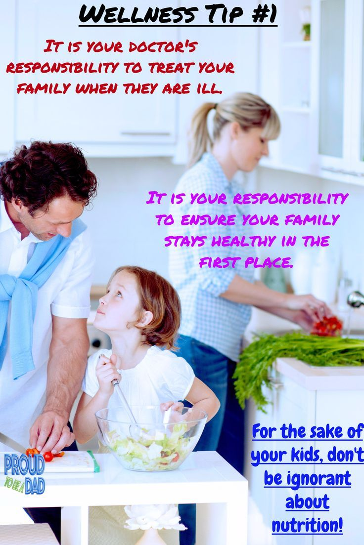 Wellness Wednesday Tip#1 - For the sake of your kids, don't be ignorant about nutrition.  Proud dads take responsibility for their family's health.