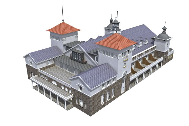 Pavilion building for Knightstone Island. Modelled in Vectorworks and rendered in Cinema 4D.