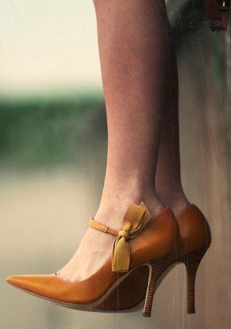 Sapatos com lacinhos