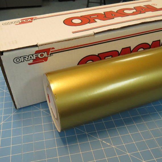 Gold Oracal 651 24 X 50 Roll Sign Vinyl Decal Vinyl Vinyl Signs Vinyl Decals Arts Crafts Supplies