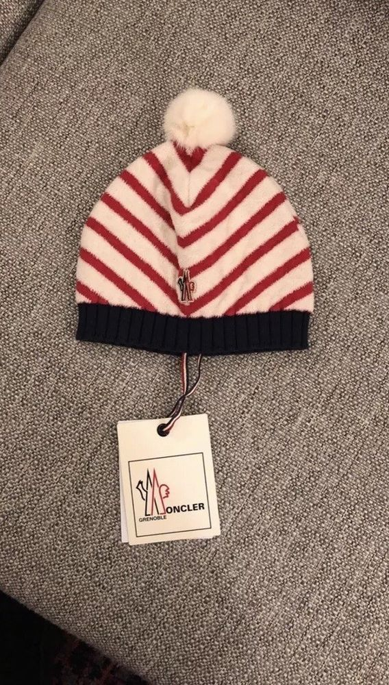 Moncler Beanie Hat With Pompom Fashion Clothing Shoes Accessories Womensaccessories Hats Ebay Link Beanie Hats Cream Hats Moncler
