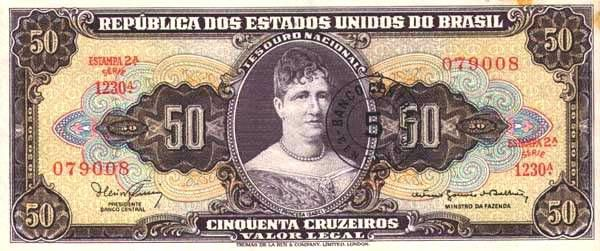 50 Крузейро (1970) Бразилия (Brazil) Южная Америка