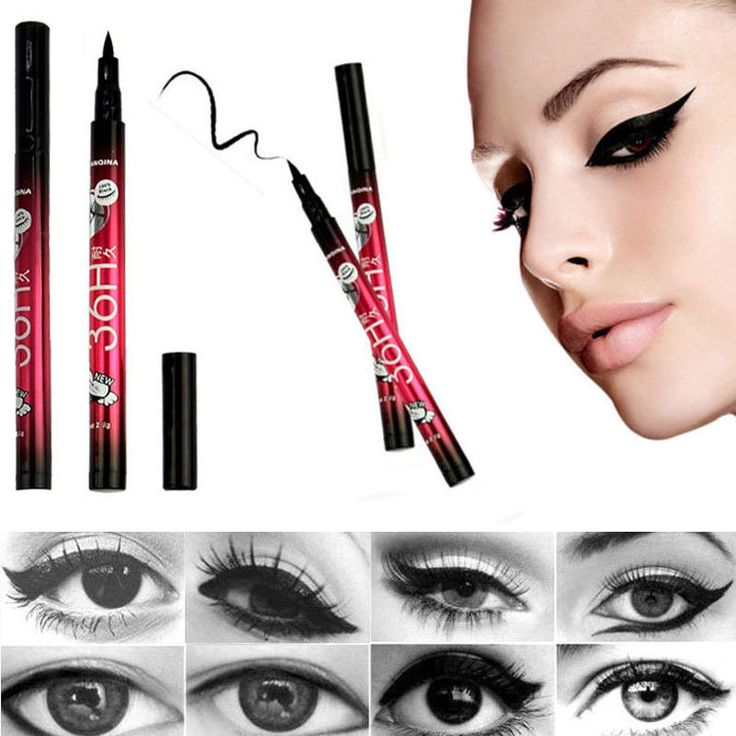 2 pcs High Quality Waterproof Black Eyeliner Liquid Make Up Beauty Comestics Eye Liner Pencil Gift Maquillaje on time sale