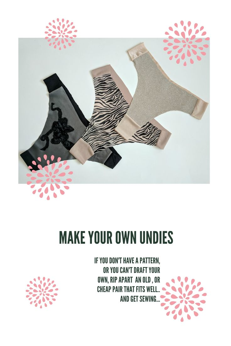 Making your own undies is cheap & easy. And you don't need lots of fabric. #diy #sew #sewing #sewinginspiration #sewingprojects #handmade #diylife