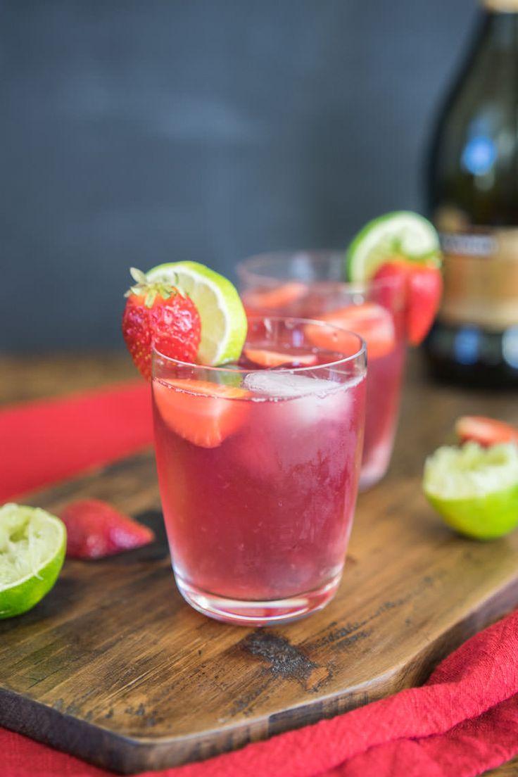 Sparkling Citrus Berry Sangria // proscecco , triple sec, orange, lime, strawberries, blueberries