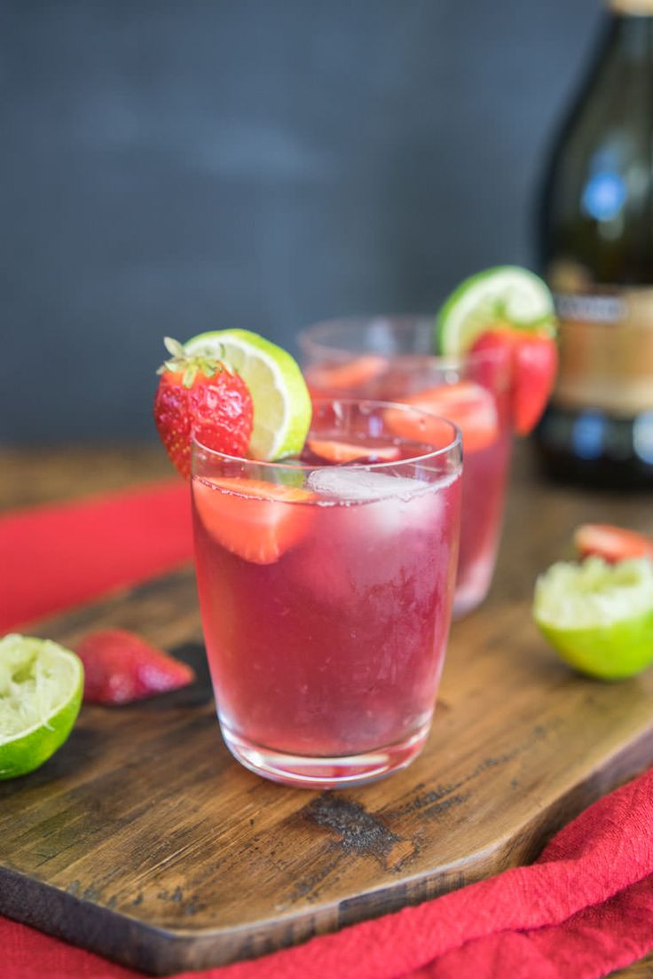 Sparkling Citrus Berry Sangria // proscecco , triple sec, orange, lime, strawberries, blueberries