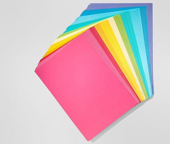 Barevný papír, 100 listů   199 Kč         10 různých barev  Formát A4 (270 g/m²)