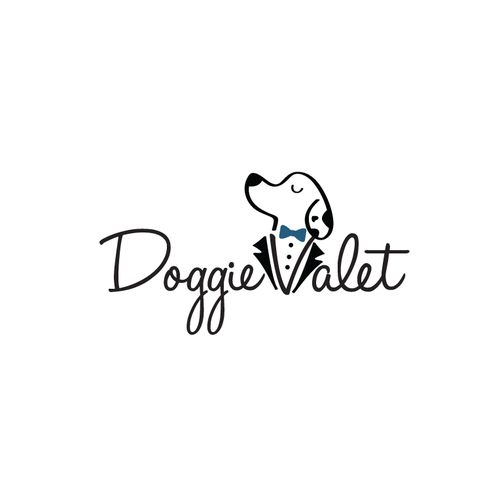"Combined a butler dog with the letter ""v"" to highlight their company's theme. 