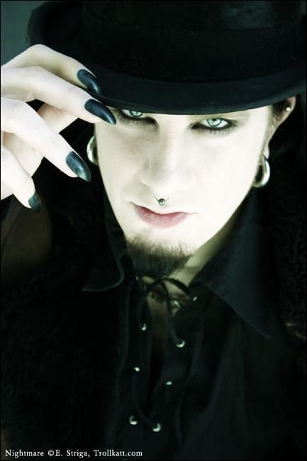 goth guy, Goth, gothic, dark