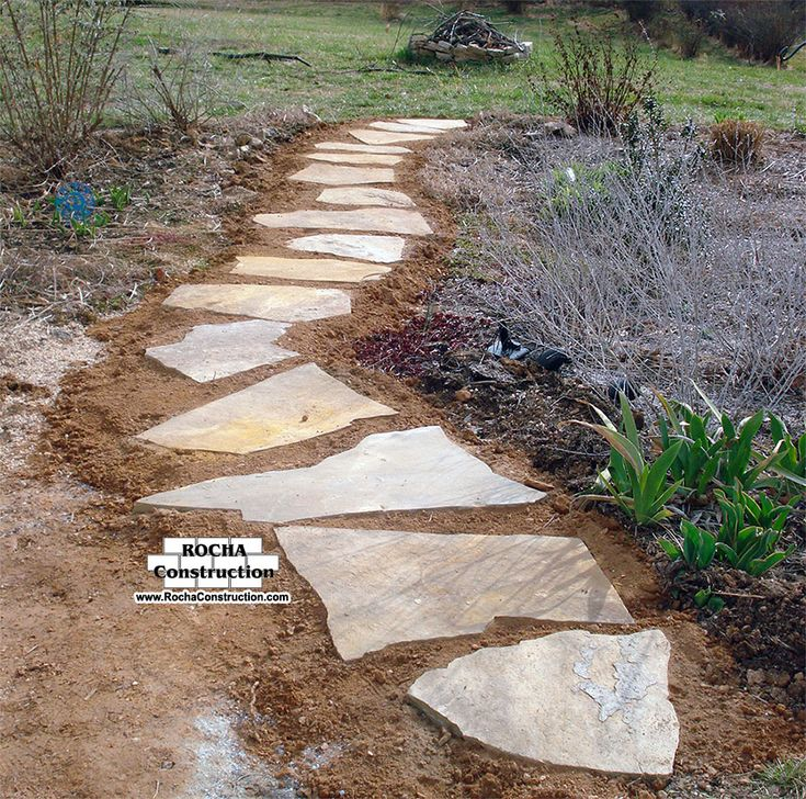 Stepping stones rocha construction silver spring md for Rock stepping stones landscaping