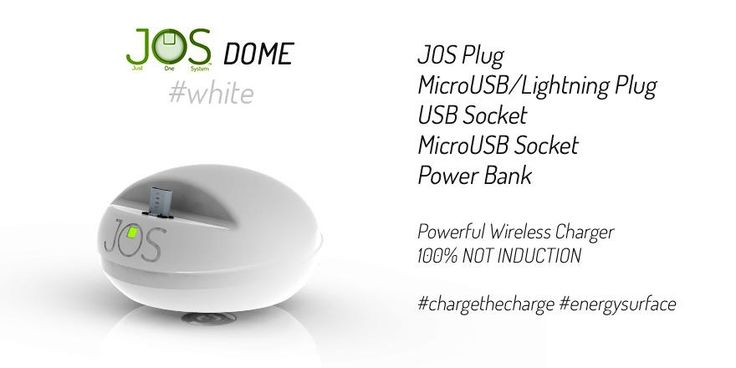 Discover JOSDome revolution. MicroUSB Plug (or Lightning), MicroUSB-USB socket, Power Bank. On  #indiegogo in may.