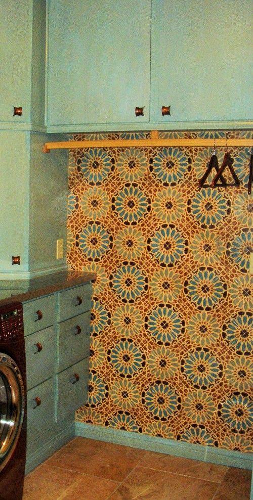 laundry room retro wallpaper -#main
