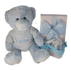 Big baby Bear in a box Personalised baby gift