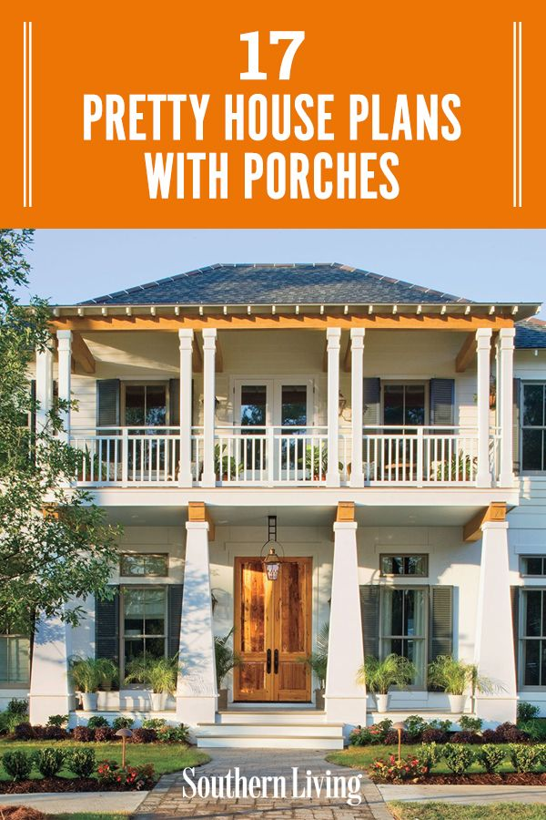Pretty House Plans With Porches In 2020 Porch House Plans Pretty House House Plans Farmhouse