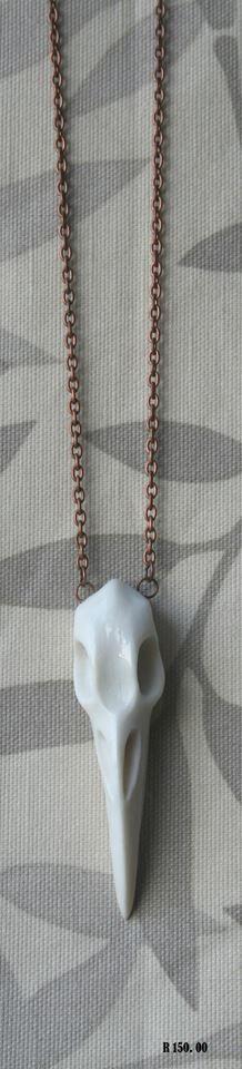 Porcelain bird skull