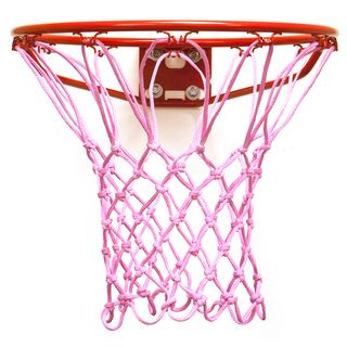 @Overstock.com.com - Krazy Netz Pink Basketball Net - Get your game on with the Krazy Netz 200 Gram Anti-Whip Basketball net. The pink net is weather resistant and fade resistant, perfect for any and all seasons.    http://www.overstock.com/Sports-Toys/Krazy-Netz-Pink-Basketball-Net/7950330/product.html?CID=214117  $24.99