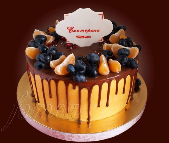 Торты с шоколадным декором