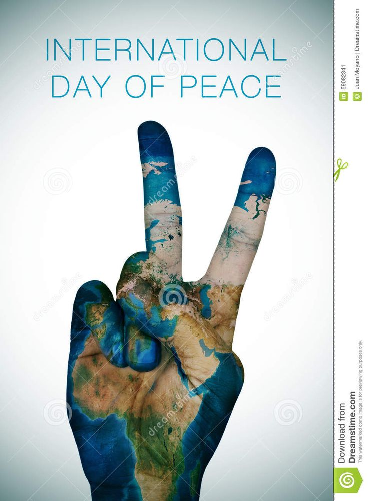 International Day Of Peace (Earth Map Furnished By NASA) Stock ...