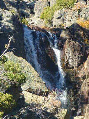 Glen Alpine Creek waterfall between Lily Lake and Glen Alpine Springs