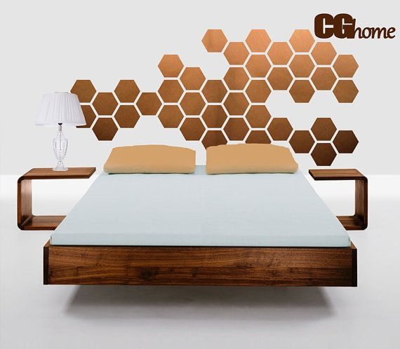 $40 This is a modern vinyl wall decal that is easy to apply in the living room, dining room, nursery, office... Modern, geometric, beautiful!    Our decal is