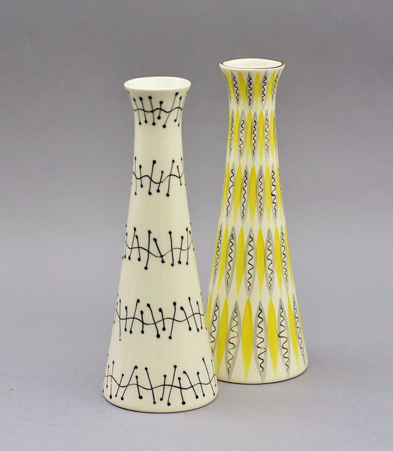 Jessie Tait vases for Midwinter Pottery | Flickr - Photo Sharing!