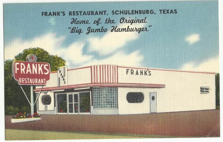 Schulenburg Tx Franks Restaurant Us 90 75 Houston Burg