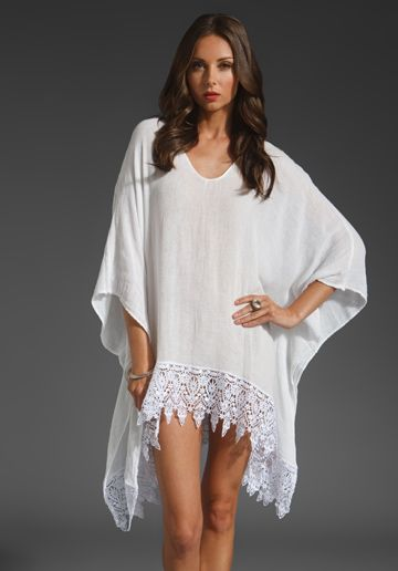 JEN'S PIRATE BOOTY Deco Atlantis Poncho in White at Revolve Clothing - Free Shipping!