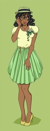 Hipster Disney Princess: Tiana by mayanna