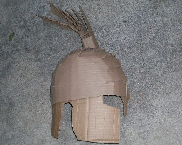 How to Make a Spartan Helmet out of Cardboard