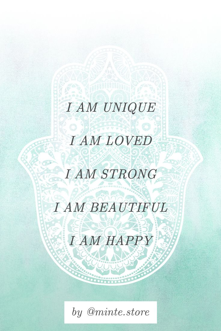Positive affirmation | Happiness mantra | Embrace …