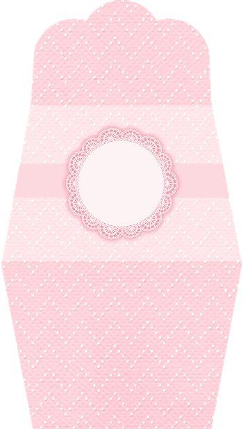 Encaje Rosa: Invitaciones con forma de Bolso para Imprimir Gratis.