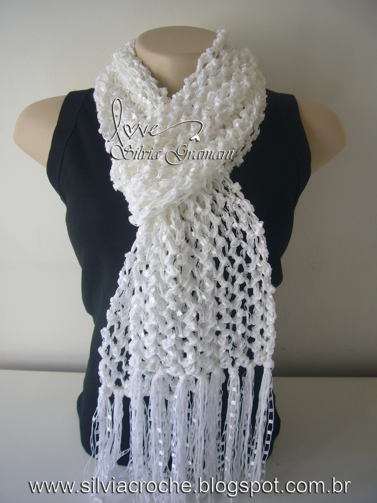 Dorable Hilo Sashay Patrón Bufanda Crochet Bosquejo - Manta de Tejer ...