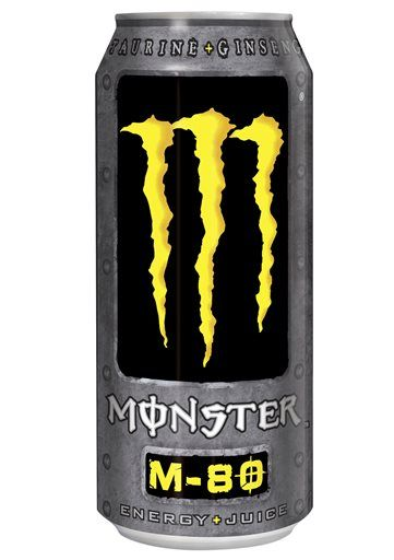This undated file photo provided by Monster Beverage Company shows a can of Monster M 80 energy drink. (AP Photo/Monster Beverage Company,File) ▼14Aug2014AP|Coca-Cola bets on energy drinks with Monster stake http://bigstory.ap.org/article/coca-cola-takes-stake-monster-beverage #Monster_M_80_energy_drink