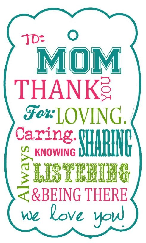Mother's Day Gift Tag