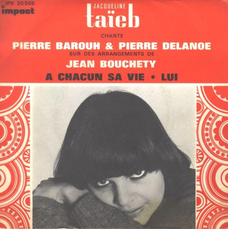 """Jacqueline Taïeb - 1969 7"""" cover #French60s #French60sPop #1960s #FrenchVinyl #60sVinyl #1969"""