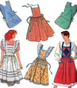 Easy Cobbler Apron Pattern | Free Pattern, Tutorial and Sewing Video – Cross back apron for