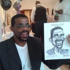 A 50TH BIRTHDAYparty in Southgate, London was the venue for another session of live caricaturing.  It's a refreshing change to be able to g...