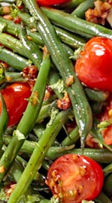 Weight Watchers Roasted Green Beans and Cherry Tomatoes (1 Point) ❊