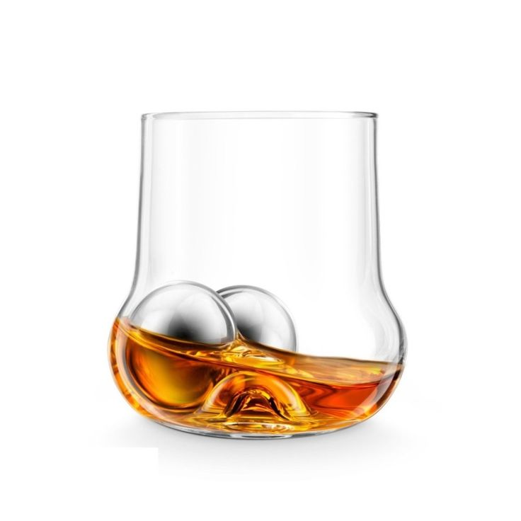 The RockRoller Set Final Touch brings chilling and motion to your whiskey drinking experience. Set includes 1 glass, 2 chilling balls and tongs.