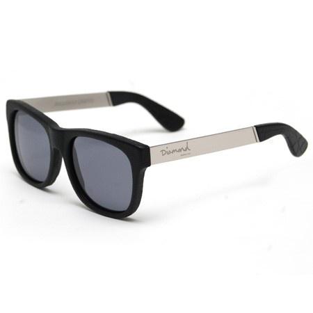 Diamond leather-wrapped sunglasses