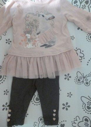 À vendre sur #vintedfrance ! http://www.vinted.fr/mode-enfants/bebe-filles/26619031-ensemble-haut-rose-leggins-gris-6mois