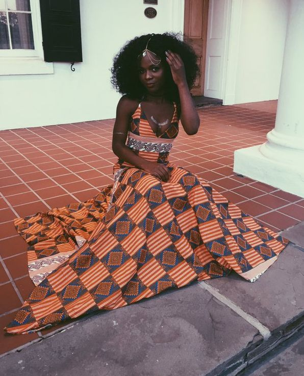 This wonder in wax print.   18 Beautiful African Prom Dresses That'll Give You Goals