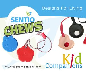 Product Review: #SensoryTools - #KidCompanions & #SentioCHEWS #Chewelry by Debi Taylor at Spirit of #Autism