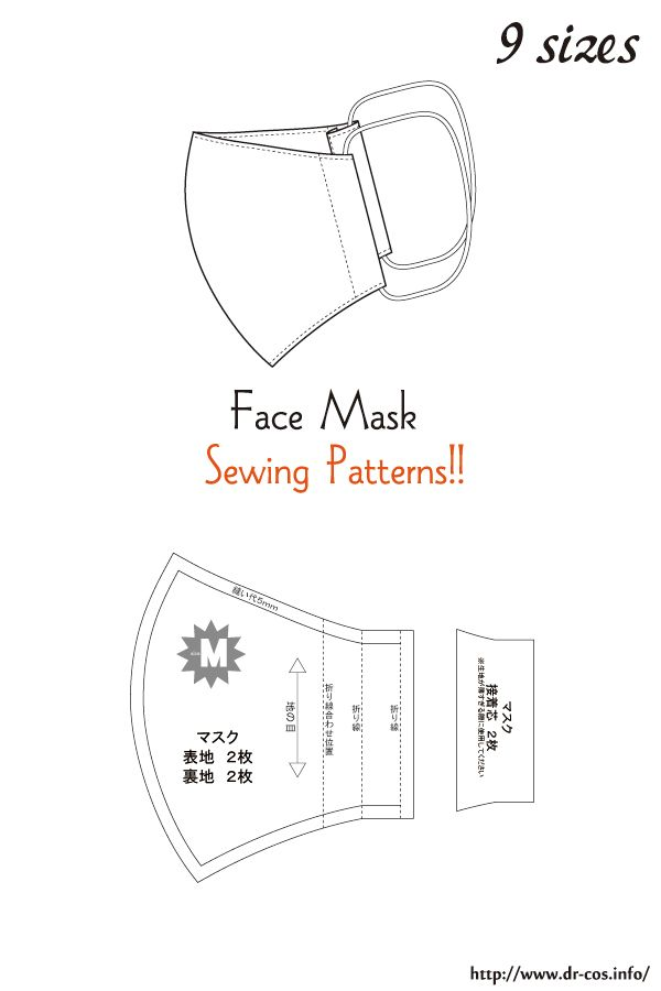 This Is The Pattern Of A Face Mask Inch Size Letter Size