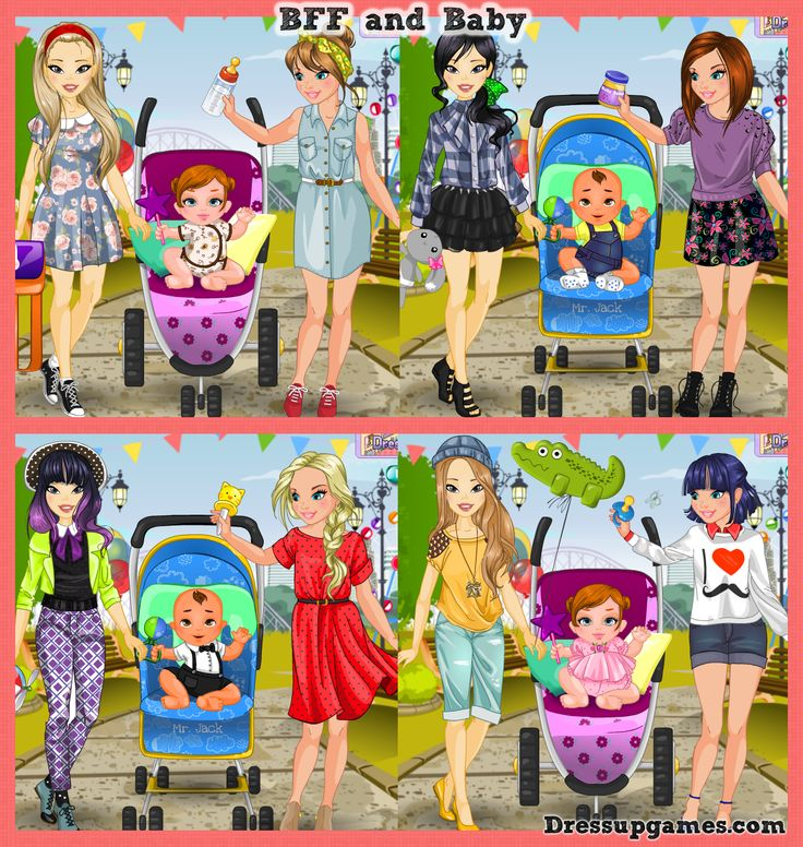 Screen shot from BFF and Baby dress-up game