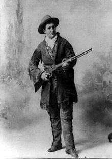 Calamity Jane nee Martha Jane Canary Burke. 05/01/1852-08/01/1903 frontierswoman, scout, indian fighter.