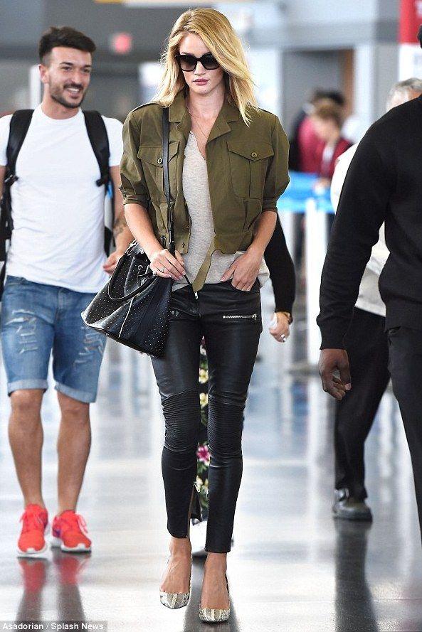 Rosie Huntington-Whiteley JFK Airport June 9, 2015 | Star Style ...