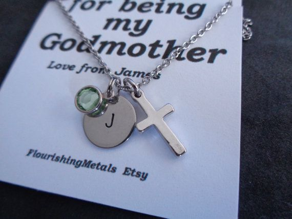 25 unique gifts for godmother ideas on pinterest godmother personalized godson initial godmother gift gift for godmother godmother necklace baptism gifts christening gift godfather gift godson negle Choice Image
