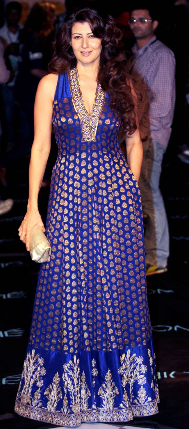 Sangeeta Bijlani on Day 4 at the Lakme Fashion Week Winter/Festive 2014. #Bollywood #Fashion #Style #Beauty